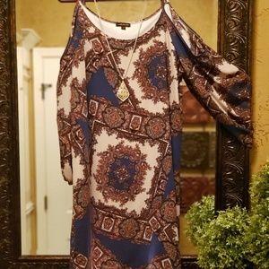 💖Classy Mm mm mm Cold Shoulder Sheath Dress/Tunic